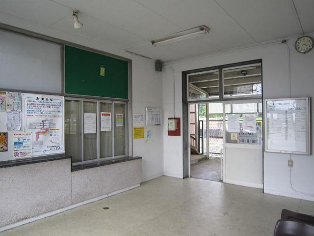 越中宮崎駅舎内部