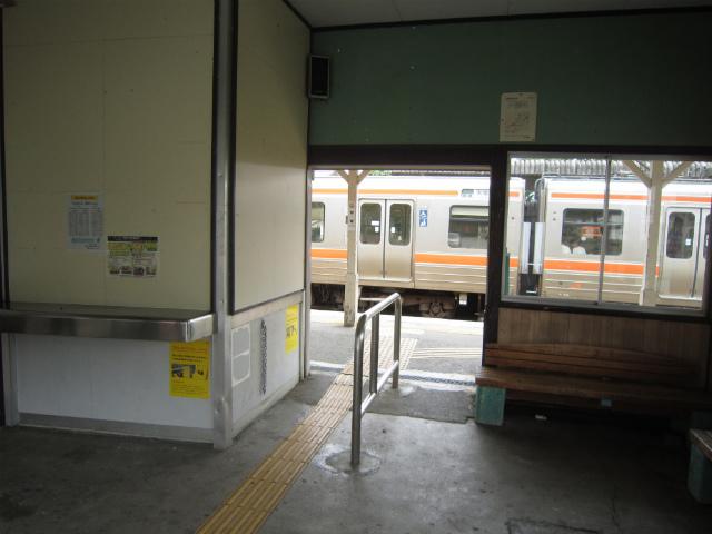元善光寺駅舎内部