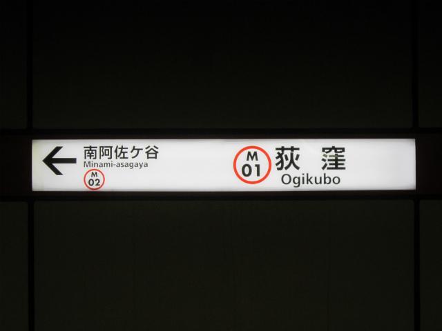 荻窪丸の内駅名