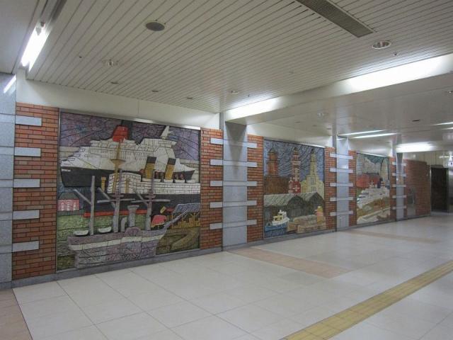 日本大通り壁画