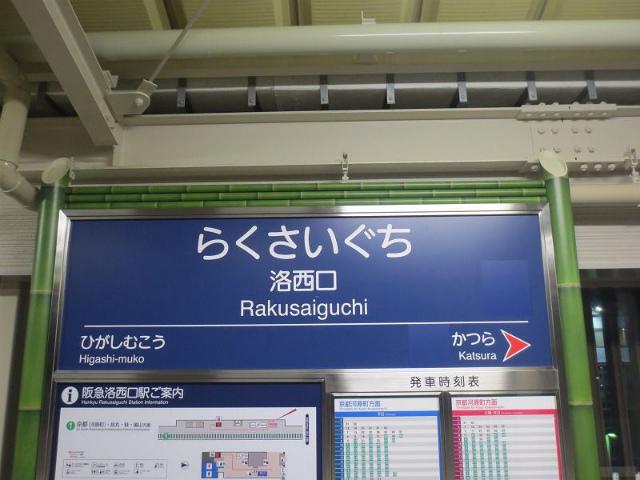 洛西口 駅名標