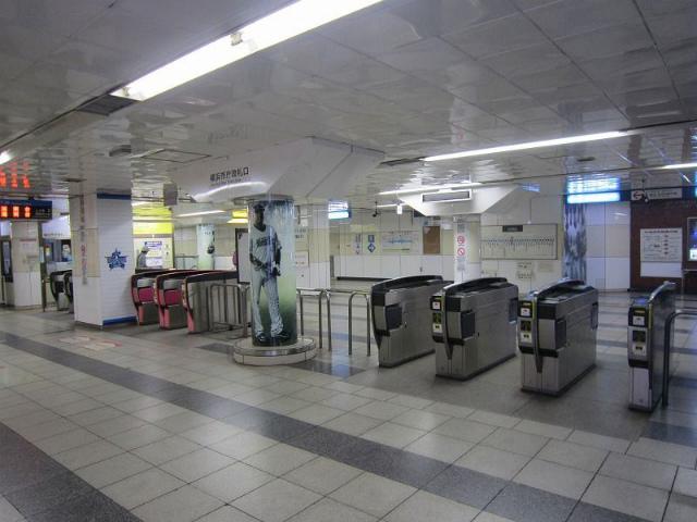 関内地下鉄横浜市庁改札