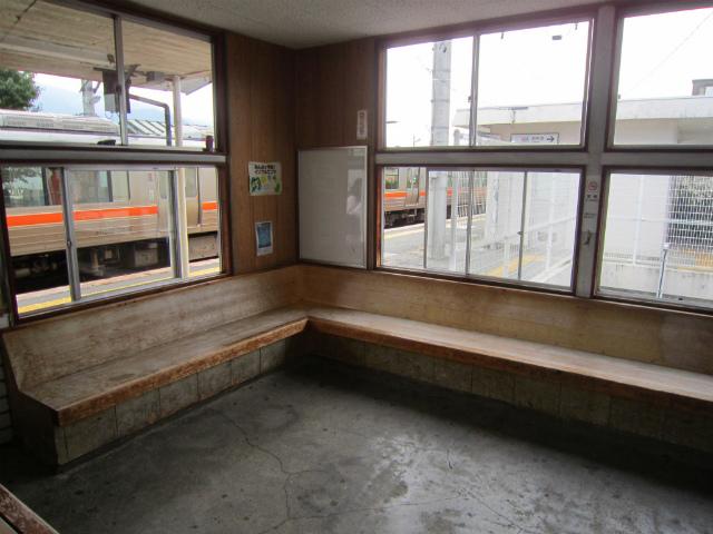 飯島駅舎内部