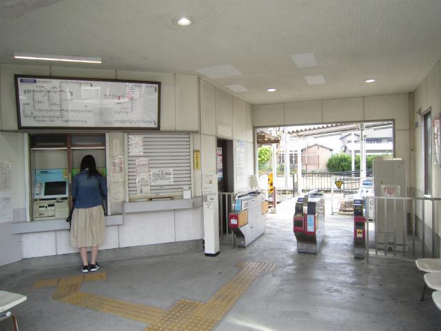 伊勢松本駅舎内部