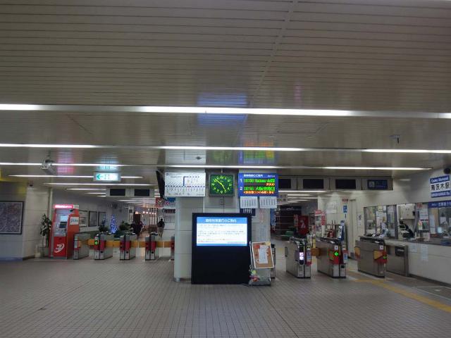 南茨木 モノレール改札