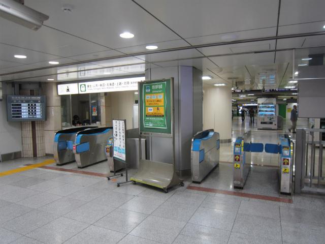 東京新幹線同士南乗り換え