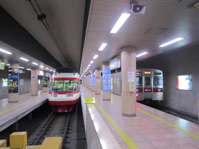 長野電鉄ホーム