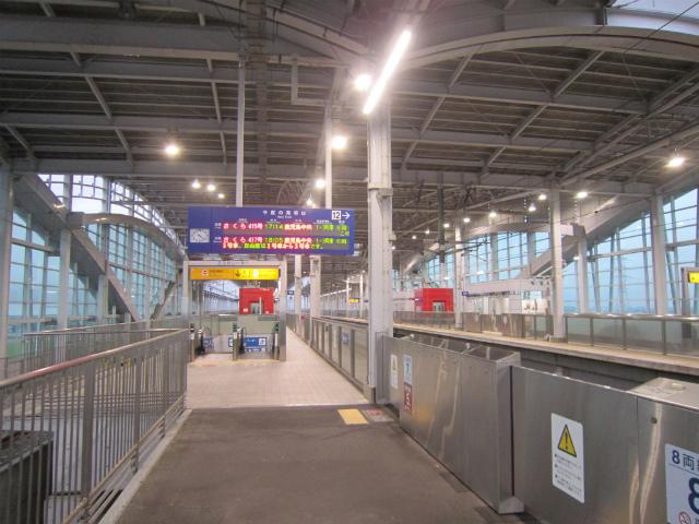 新八代新幹線ホーム