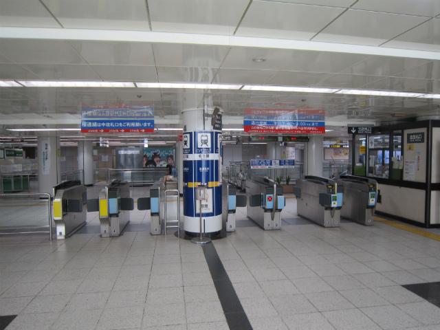 名駅東山北改札口