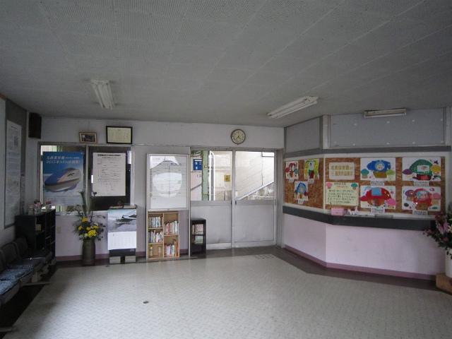 名立駅舎内部
