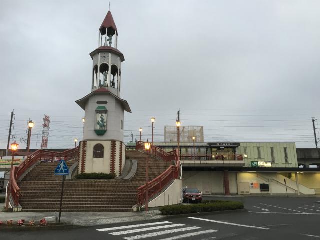 石橋駅舎遠景