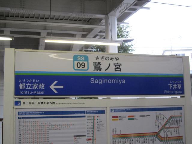 鷺ノ宮駅名