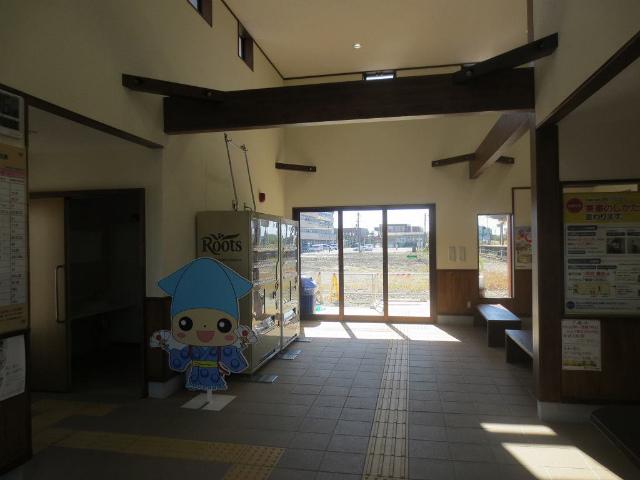 中滑川 駅舎内部