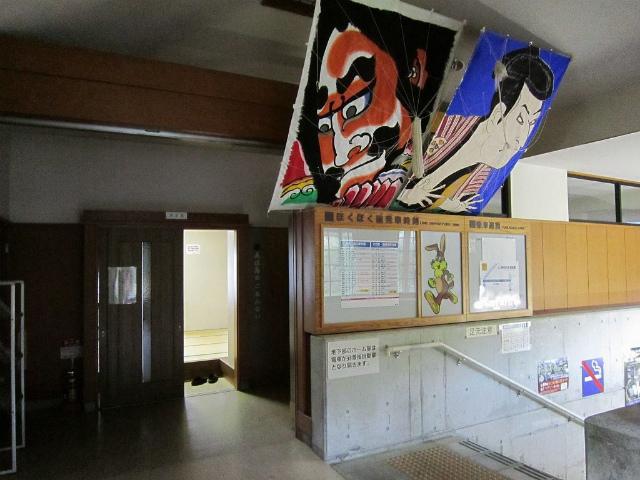 美佐島駅舎内部