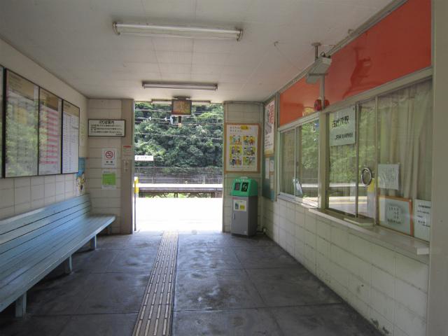 古虎渓駅舎内部