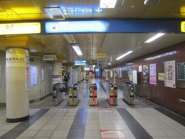 関内地下鉄馬車道改札