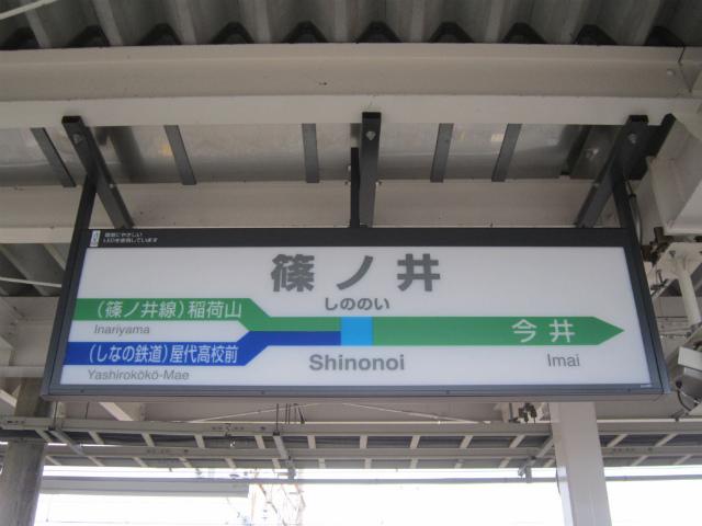 篠ノ井駅名