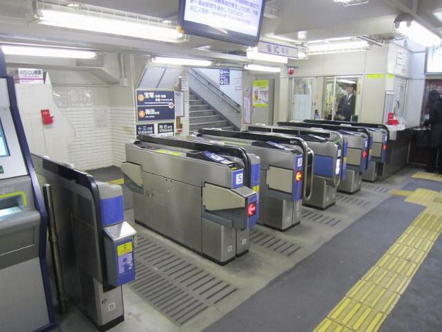 中津阪急改札