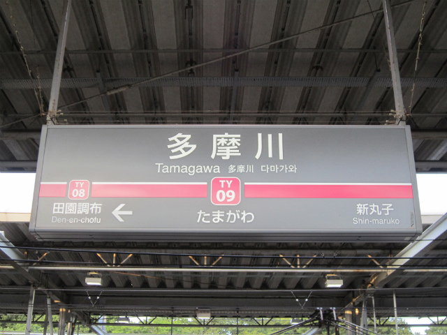 多摩川東横駅名