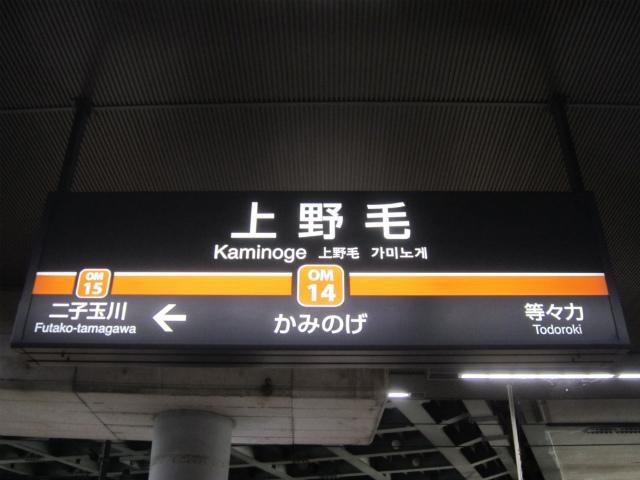 上野毛駅名
