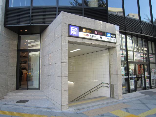天満宮南森町駅入り口