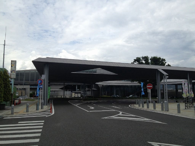 竜王駅舎富士山