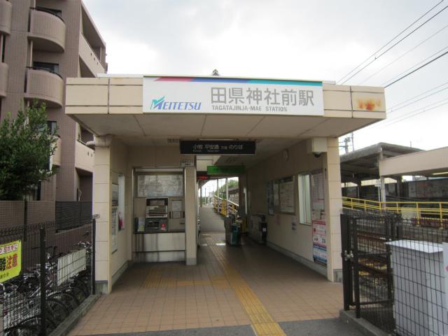田県神社前小牧駅舎